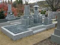 墓地の砂利入れ替え 工事後